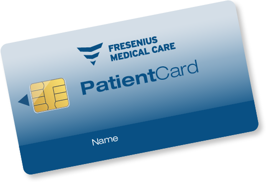 Imagem de um cartão com chip de paciente do sistema TDMS.