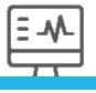 Ícone de um monitor de computador com sistema médico.